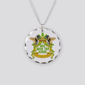 God Save the Queen Necklace Circle Charm